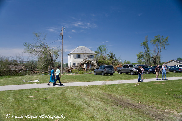 Tornado damage in Hazelton, Iowa.<br /> May 26, 2008