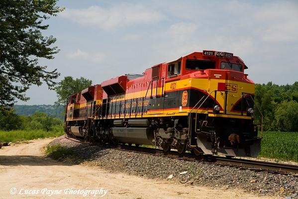 Train near Millville, Iowa. <br /> July 27, 2008