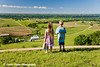 My niece and nephew, Luka and Walker, Schulte looking out at the Mississippi River valley near Balltown, Iowa.