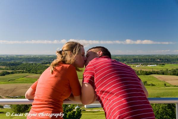 My brother Tyler and his fiancée Shari Paris near Balltown, Iowa.
