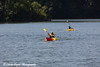 Two people kayaking on Lake Macbride in Lake Macbride State Park near Solon, Iowa<br /> <br /> July 10, 2012