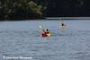 Two people kayaking on Lake Macbride in Lake Macbride State Park near Solon, Iowa<br /> <br /> July 10, 2012
