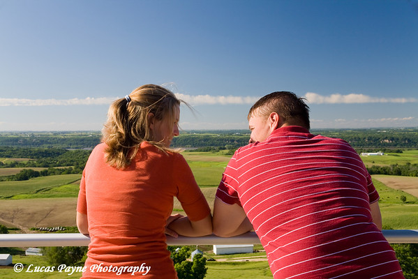My brother Tyler and his fiancée Shari Paris near Balltown, Iowa.