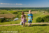 My niece and nephew, Luka and Walker Schulte, looking out at the Mississippi River valley near Balltown, Iowa.