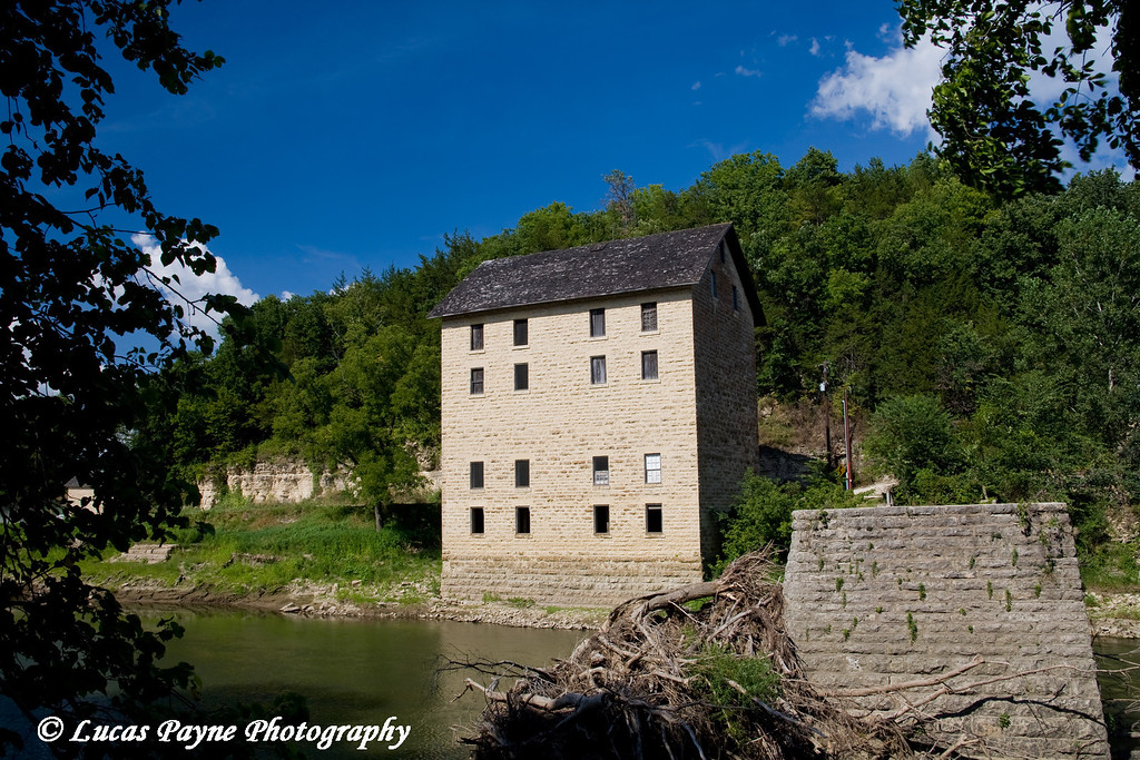 Motor Mill along the Turkey River near Elkader, Iowa<br /> August 17, 2008