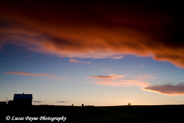 Eastern Iowa Sunset<br /> June 22, 2008