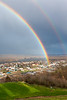 Rainbow over Guttenberg, Iowa and the Mississippi River<br /> <br /> April 20, 2020