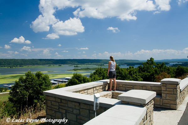 Melissa at the Mississippi River Overlook in Guttenberg, Iowa<br /> August 17, 2008