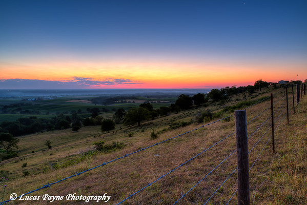 Scenic view of the Mississippi River Valley near Balltown at dawn, Northeast Iowa<br /> <br /> July 11, 2012