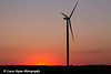 Silhouette of a wind turbine from the Elk Wind Energy Farm at sunset near Edgewood in Northeast Iowa<br /> <br /> July 09, 2012