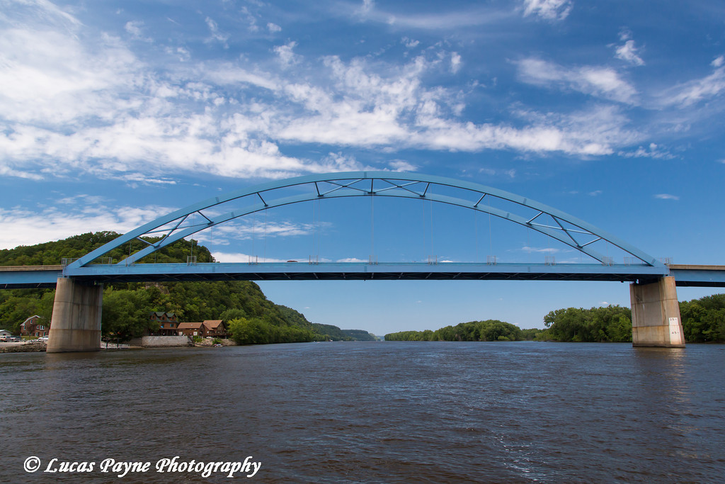 Bridge across the Mississippi River connecting Marquette, Iowa and Praire Du Chien, Wisconsin<br /> <br /> July 07, 2012