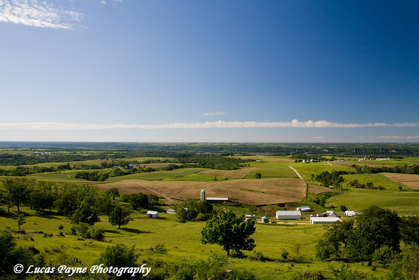 The Mississippi River valley from Balltown, Iowa.<br /> June 15, 2008