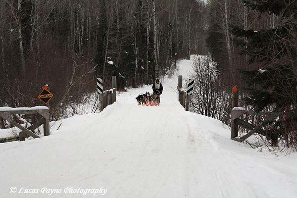 Day 3 of the John Beargrease Sled Dog Marathon near Finland, MN