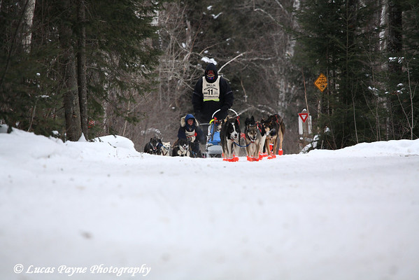 Day 3 of the John Beargrease Sled Dog Marathon near Finland, MN