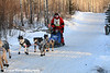 The winner of the John Beargrease Sled Dog Marathon, Jason  Barron, about 1 mile from the finish line. Morning temps were -23°F with windchills around -50°F.