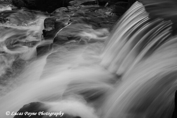 B&W-Miller Creek at Lincoln Park in Duluth, Minnesota