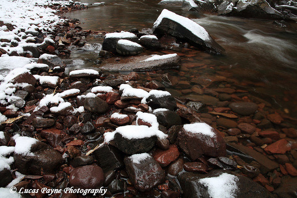 Amity Creek after the first snow fall of the year (Nov. 9, 2007) <br /> Duluth, MN