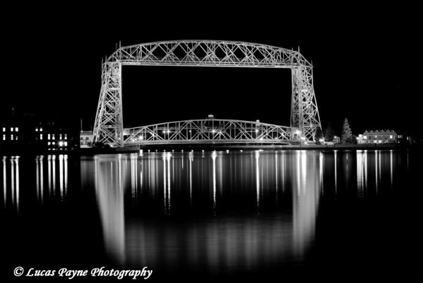 B&W Aerial Lift Bridge-Duluth, Minnesota