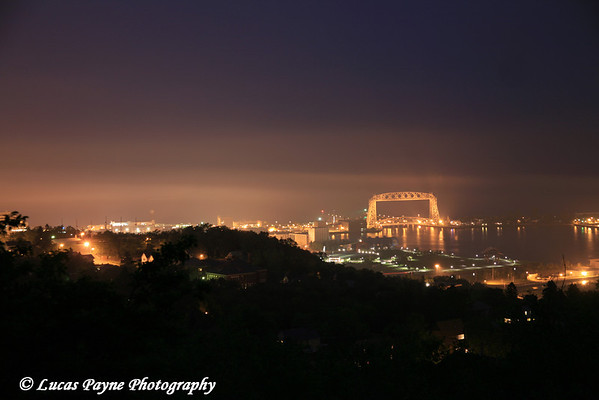 Duluth City Lights From Enger Park