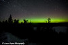 Aurora Borealis from the Laurentian Divide Overlook along the Gunflint Trail overlooking Birch Lake.  Located in Northern Minnesota near the Canadian Border.