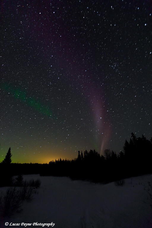 Aurora Borealis along the Gunflint Trail in Northern Minnesota.