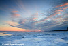 Frozen Lake Superior At Sunset