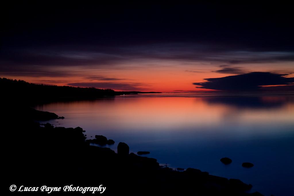Dawn on Lake Superior<br /> April 18, 2008