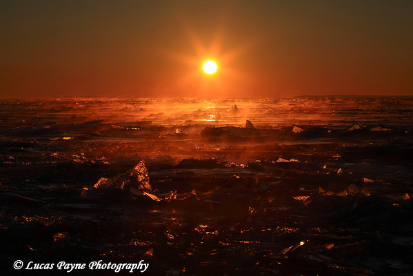 Lake Superior Frozen Sunrise
