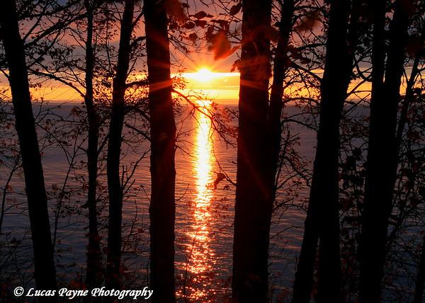 Sunrise On Lake Superior Near Duluth, Minnesota
