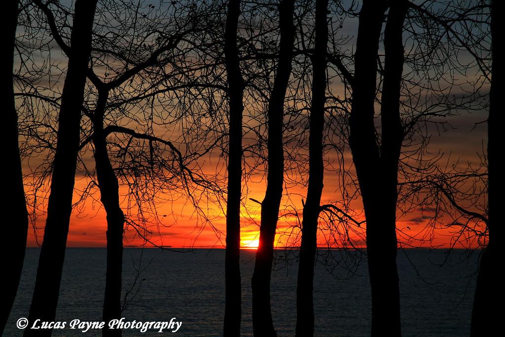 Sunrise On Lake Superior At Kitchi Gammi Park Near Duluth, MN
