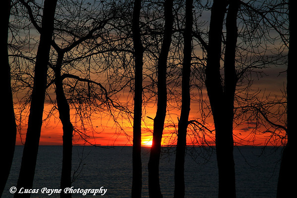 Sunrise On Lake Superior At Kitchi Gammi Park Near Duluth, MN