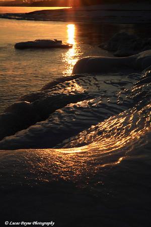 Lake Superior Winter Sunset