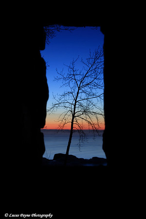 Lake Superior Framed Twilight