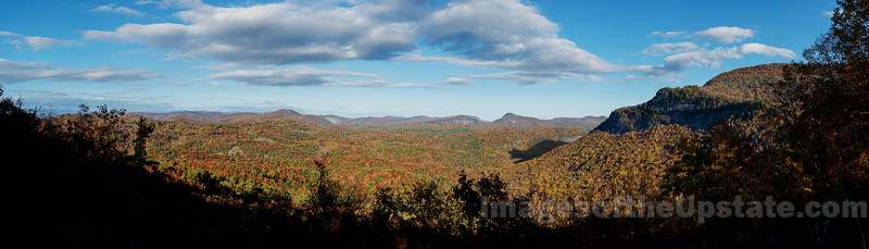Rhodes' Big View & the shadow of the bear - Highlands, NC