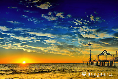 Brighton Jetty at Sunset - Brighton, South Australia