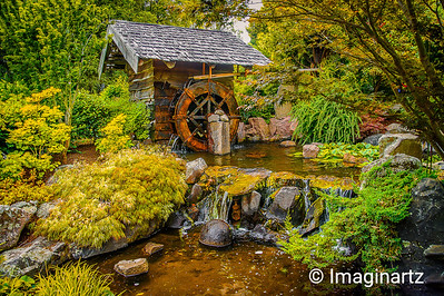 Water wheel at the Royal Hobart Botanical Garden