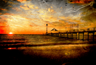 Sunset over Brighton Beach, South Australia