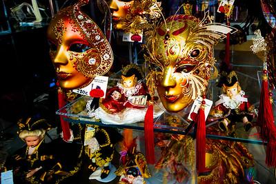 Masks in Venetian Shop