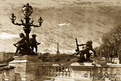 Eiffel Tower from Le Pont Alexandre III