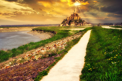 Dawn Breaks over Mont Saint-Michel