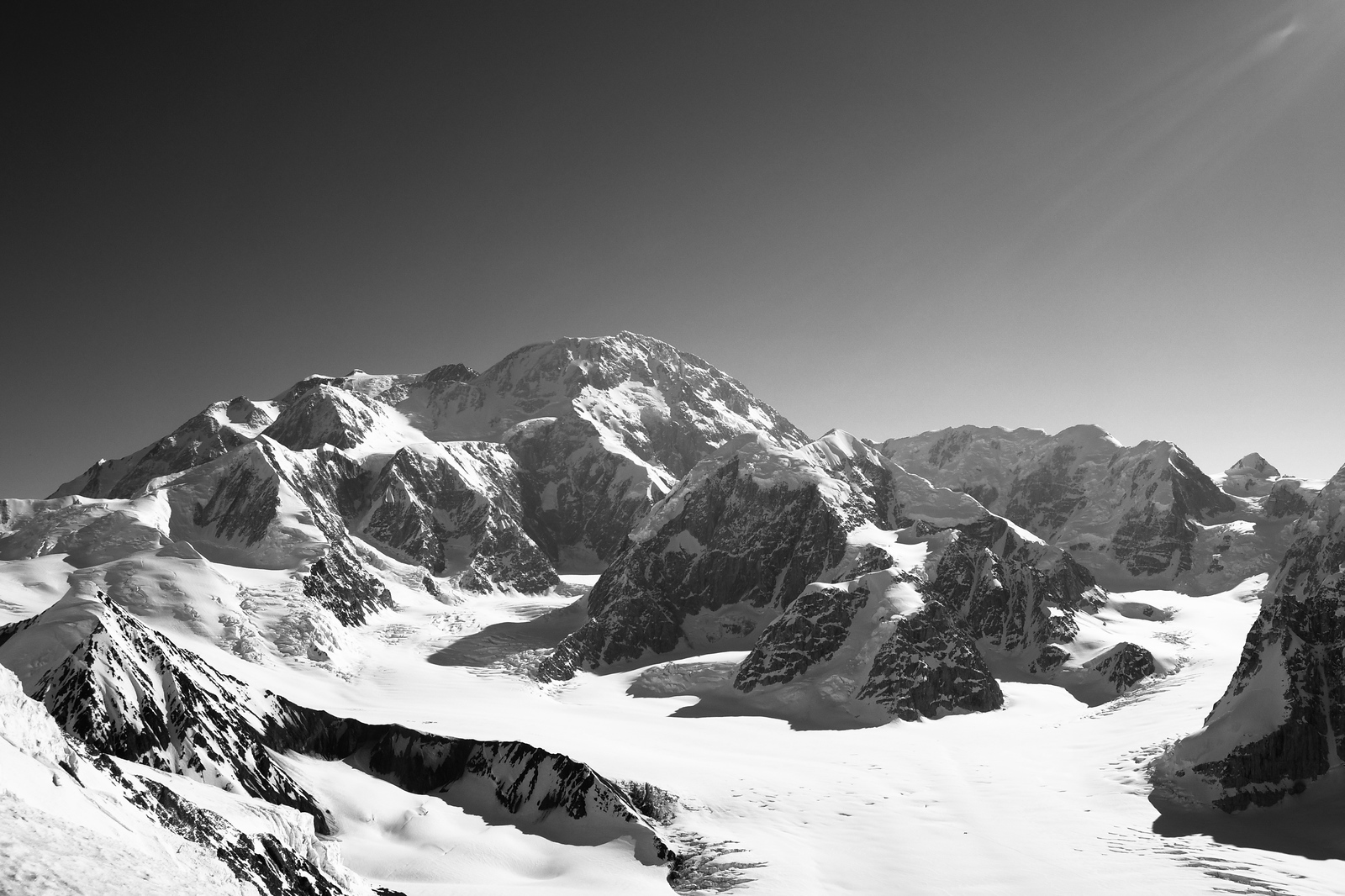 Denali From Crosson B/W