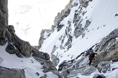 Climbing on Grand Teton