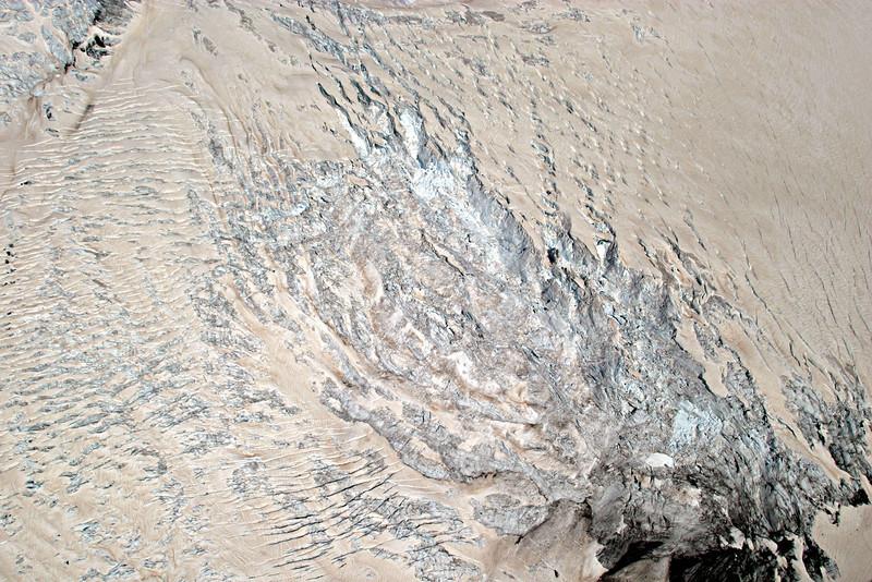 Ice Falls, Fox Glacier dusted by Australian Desert Dust