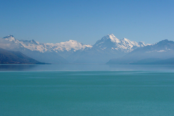 Lake Pukaki filled with Liquid Emerald