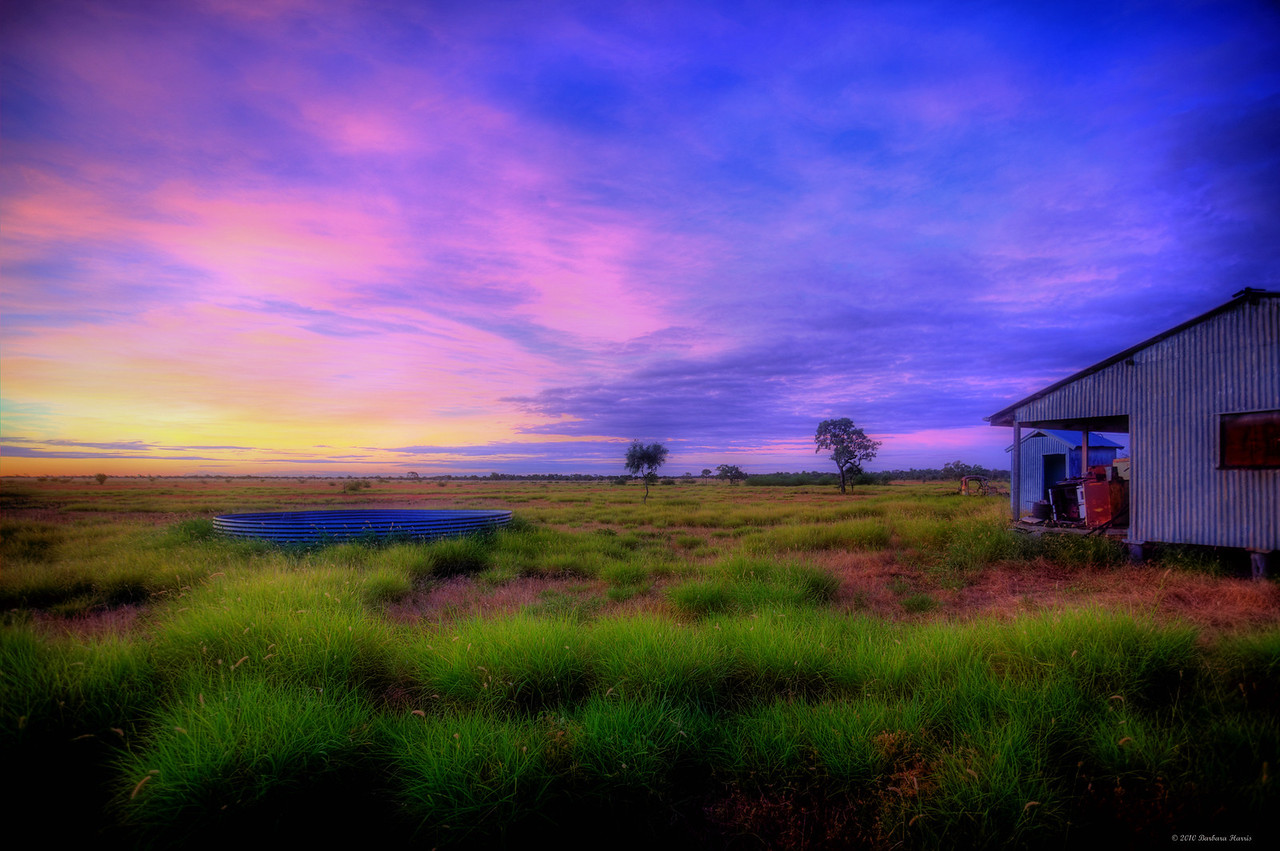 The Galvanised Shed at Sunset