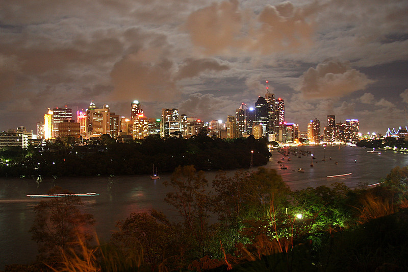 Brisbane by Full Moon 0001Hours