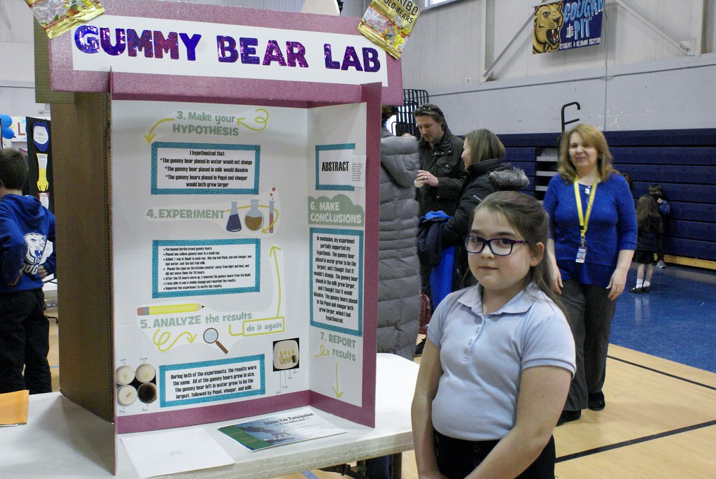 . Students at Immaculate Conception Catholic School in Ira Township put their science experiments on display at the school\'s annual science fair on March 15. Projects involved everything from electricity, cosmic rays and crystals to fingerprints, magnets and sand. (Photos by Colleen Kowalewski)