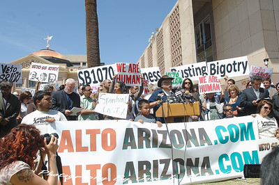 2010-04-20-110   SB1070 Protests Urging Veto By Gov. Brewer