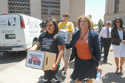 2010-04-20-236   Delivering SB1070 Petitions Urging Veto To Gov. Brewer's Office