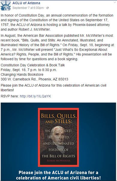 2015-09-18  Constitution Day Celebration & Book Talk